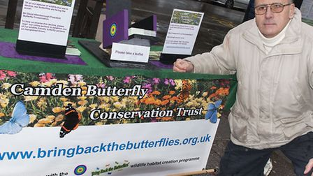 James Lee, Camden Butterfly Conservation Trust,campaigning for wildflower meadow
