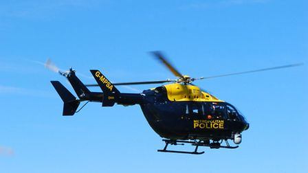 The helicopter located the man at an address in St Paul's Cray.