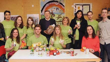 Ham & High staff and colleagues from sister titles with their lunch at St Mungo's. Picture: Dieter P