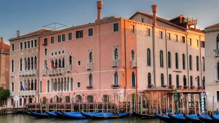 An external shot of Ca'Sagredo hotel which is based on the canal in Venice. Picture: Randy Jay Bran