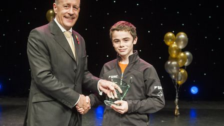 James Pope - Climbing, under 16 sports person of the year with Hackney Mayor Jules Pipe
