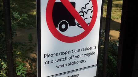 Hackney Council's signs in Hoxton Square