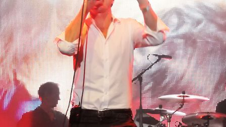 Suede frontman Brett Anderson performing at Kenwood House in August. Picture: Dieter Perry.