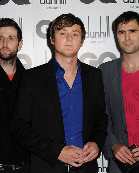 British band Keane, from left to right: Richard Hughes, Tom Chaplin and Tim Rice-Oxley. Picture: PA/