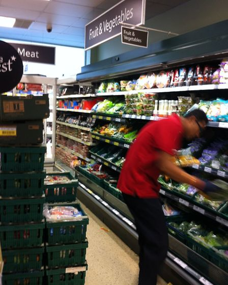 The shelves are now full in Haggerston Tesco after workers spent all night restocking them following