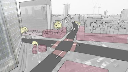 Proposed crossroads layout for Old Street roundabout