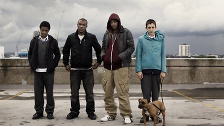 The cast of Top Boy - not on a Hackney Homes' towerblock because the council banned them from filmin