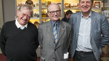 Gerry Isaaman, former editor of the Ham&High (centre), with his successor Matthew Lewin (left) and c