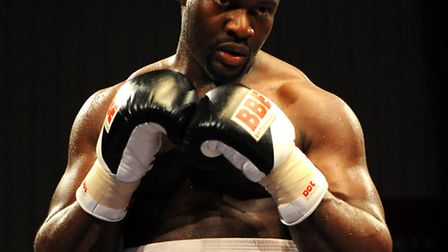 Larry Olubamiwo during his fight against Yavor Marinchev