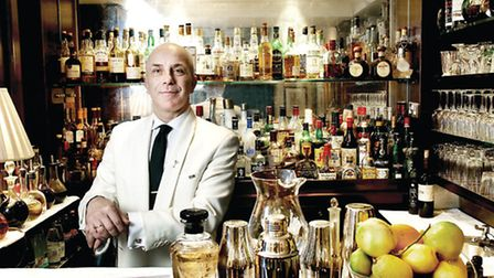 """The bar at Duke's which is famous for the """"Shaken, not stirred"""" James Bond catchphrase."""