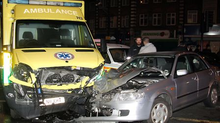A Hatzola ambulance collided with a car in Stamford Hill on New Year's eve