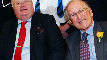 Lord Janner (right) with Tory MP Eric Pickles during the secretary of state's visit to the Jewish Mu