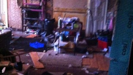 The inside of 195 Mare Street after squatters were evicted. Picture Jim Casey