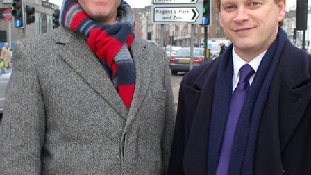 Simon Marcus with Conservative Party chairman Grant Shapps. Pictue: Polly Hancock.