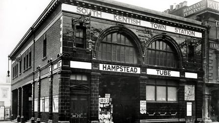 South Kentish Town Underground station is one of north London's long forgotten 'ghost stations'. Pic