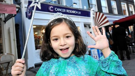 A VILP (Very Important Little Person) Luna Caden (6) from Platts Lane, Hampstead, who was diagnosed