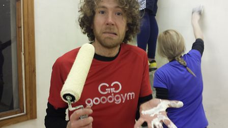Shaun with GoodGym Camden at work at The Winch