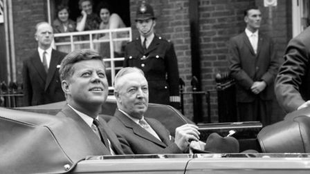 Former US President John Kennedy during a visit to London two years before his assassination. Pictur