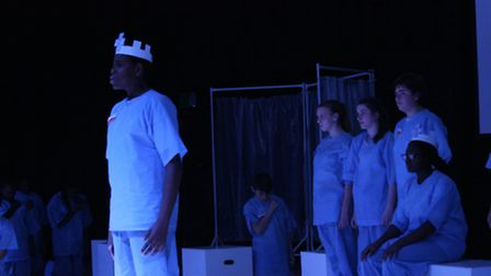 Macbeth played by Keji Neri in Haggerston's production.