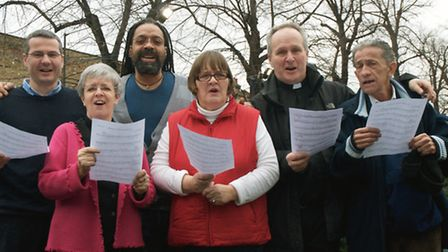 Nial Weir with some of the Cantignorus Chorus, photo credit Eat Hackney.
