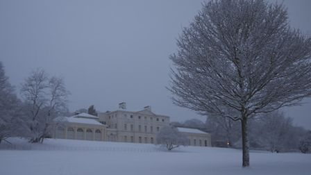 The snow covered grounds of Kenwood House. Picture: Lee Clark