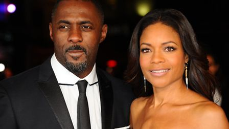 "Actors Idris Elba and Naomie Harris attend the Royal film performance of ""Mandela: Long Walk to Free"