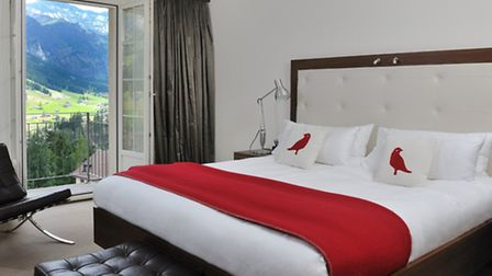 The bedroom at The Cambrian, photo Matt Cant