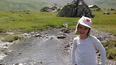 Paddling in the icy stream in the Engstligen pastures