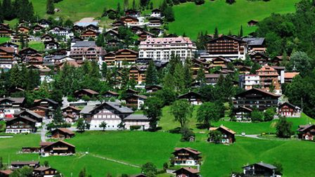 The picturesque village of Adelboden