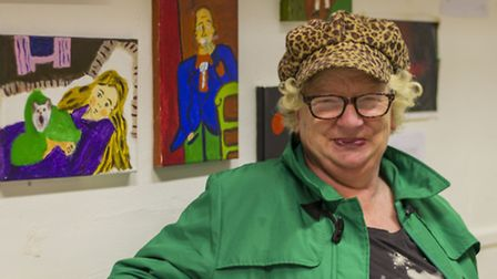 Linda Noble at the exhibition