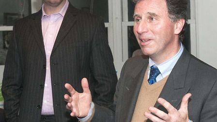 Oliver Letwin (right) with Simon Marcus. Picture: Nigel Sutton.