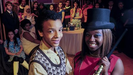 Esther Boadu as Charity and Elijah Hammond-Dallas as Oscar at the Haverstock School performance. Pic