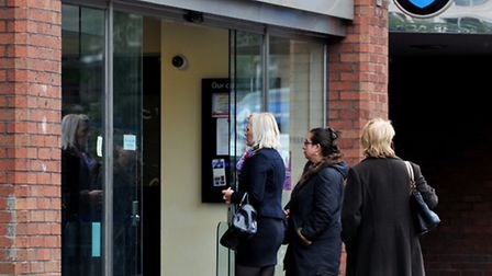 The Barclays branch in Swiss Cottage which the defendants are alleged to have defrauded. Picture: PA
