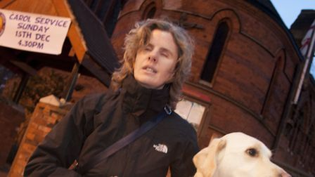 Abi Baker, blind violinist who had her bag stolen from St James' Church, West Hampstead. Picture: Ma