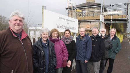 Bob and Rosmaund Webb and their team restoring Wickham Market railway station at Campsea Ashe. Pictu