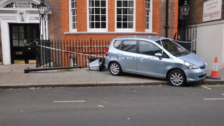 The car in Church Row. Picture: Photocraft Hampstead