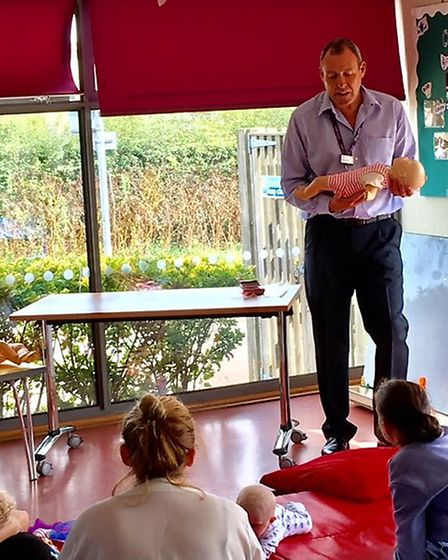ECCH trainer Simon Drewett give parents advice on how to save a baby's life in an emergencyPictures: