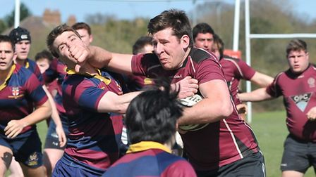 UCS's James Boyde scored in Saturday's defeat at Harpenden. Pic: Nick Cook/UCS Old Boys RFC