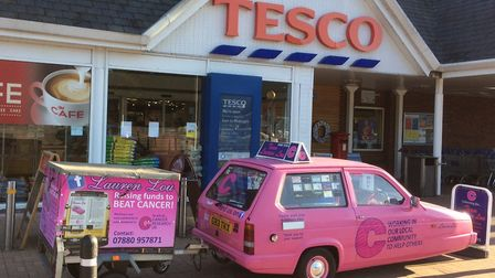The Lauren Lou appeal held a collection at the Tesco store in Leisure Way, Gunton. Picture: Courtesy