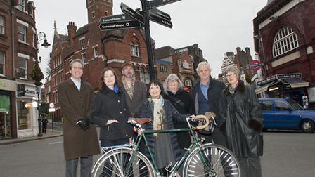 Residents hoping to set up a Hampstead Neighbourhood Forum gather on the high street. Picture: Nigel