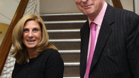 Sir Max Hastings and Louise Jacobs, chief executive of the London Jewish Cultural Centre. Picture: I
