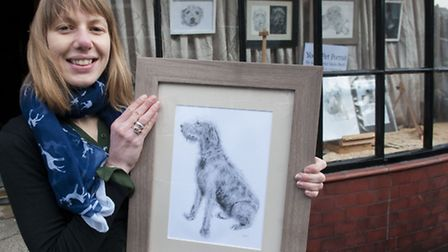 Pet Artist Sasha Bunch has an exhibition of paintings at pop up art gallery in Highgate High Street.