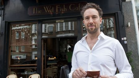 Andre Millodot owner of Wet Fish Cafe discovered the restaurant had been broken into when he arrived