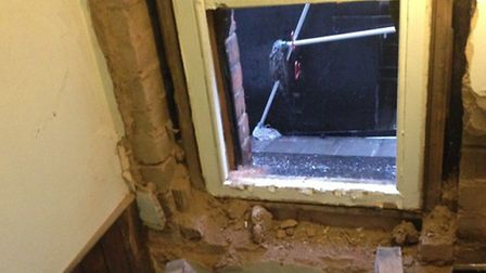 The damage caused by burglars after the incident. Picture: Nicky Jones/WestHampsteadLife blog