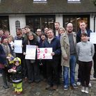Campaigners outside Belsize Fire Station earlier this year.