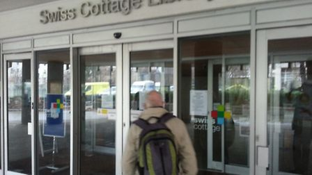Librarians at Swiss Cottage Library in Avenue Road were forced to turn people away after a burst wat