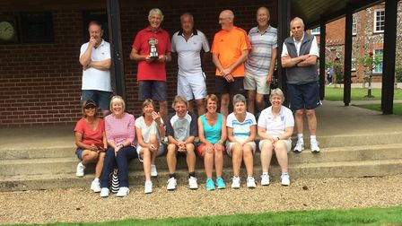 The annual Waveney Tennis Club tournament was hailed a success. Pictured are the tournament players