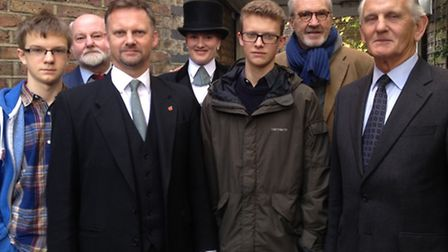 From left to right: William Leverton, Clive Leverton, Andrew Leverton, Pippa Leverton, Henry Leverto
