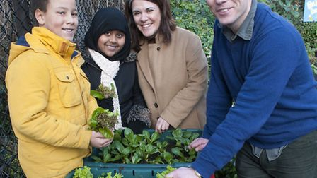 Outdoor classroom at Rhyl Primary school Ewan Graham 10 & Salma Shahzadi 10 pictured with new head