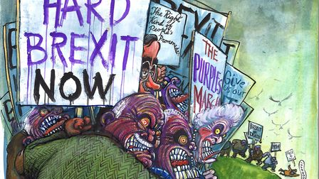 Micahel White believes all endings for Brexit are brutal now. Illustration: Martin Rowson.
